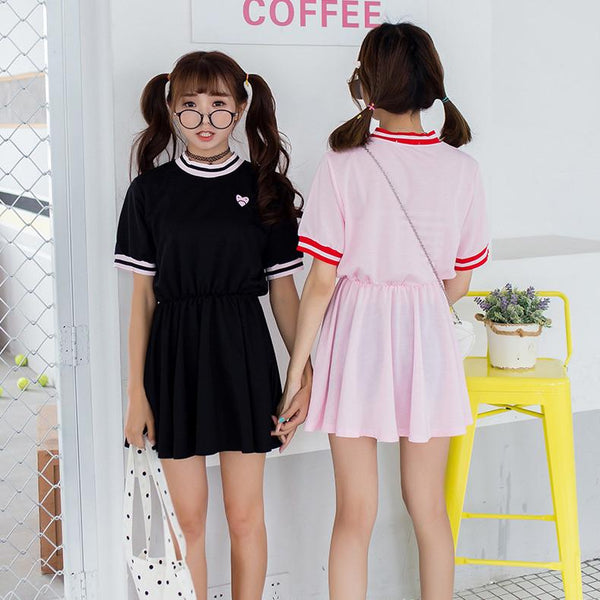 Harajuku Love Embroidery Couple Dress SD02331 - SYNDROME - Cute Kawaii Harajuku Street Fashion Store