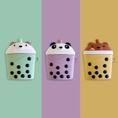 We Bare Bears Boba Airpods Case SD01281 - SYNDROME - Cute Kawaii Harajuku Street Fashion Store
