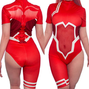 Darling In The Franxx Zero Two Battle Suit 1 Piece Cosplay Bodysuit/Swimsuit SD00071 - SYNDROME - Cute Kawaii Harajuku Street Fashion Store