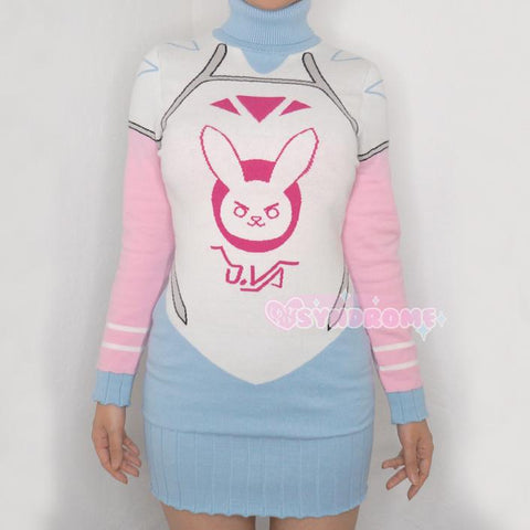 Sale Overwatch Winter D.VA Sweater Dress MF02550 - SYNDROME - Cute Kawaii Harajuku Street Fashion Store