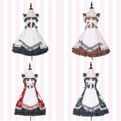 Lolita Lace Bow Strap Dress SD00824 - SYNDROME - Cute Kawaii Harajuku Street Fashion Store