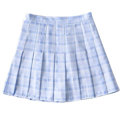 Blue Plaid Summer Skirt SD00366 - SYNDROME - Cute Kawaii Harajuku Street Fashion Store