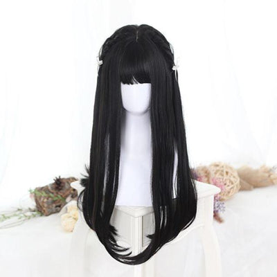 Lolita Black Wig SD02303 - SYNDROME - Cute Kawaii Harajuku Street Fashion Store