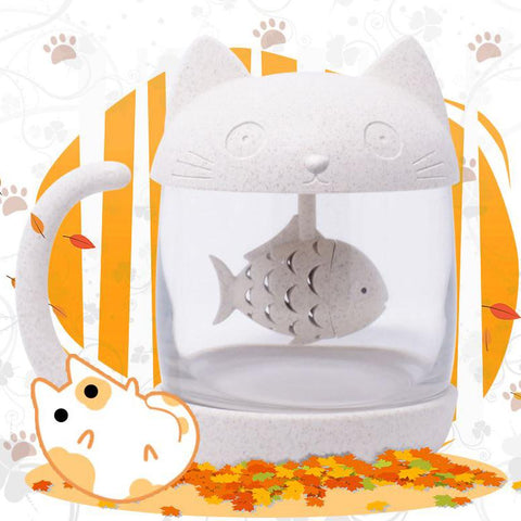 Cat Fish Tea Infuse Cup SD00789 - SYNDROME - Cute Kawaii Harajuku Street Fashion Store