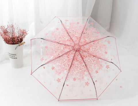 Harajuku Cherry Blossom Transparent Umbrella SD01699