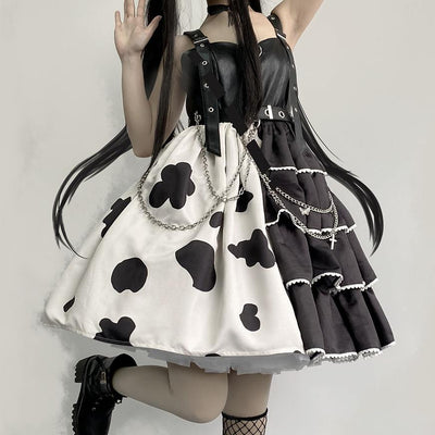 Double Cow Lolita Dress SD00368 - SYNDROME - Cute Kawaii Harajuku Street Fashion Store