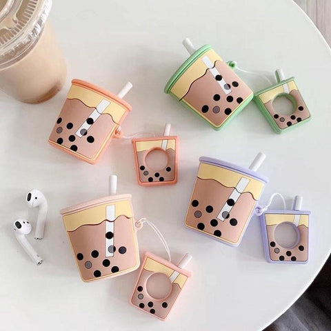 Delicous Bubble Tea Airpods Case SD00141 - SYNDROME - Cute Kawaii Harajuku Street Fashion Store