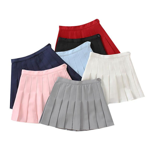 High-Waist Pleated Skirt SD00800 - SYNDROME - Cute Kawaii Harajuku Street Fashion Store