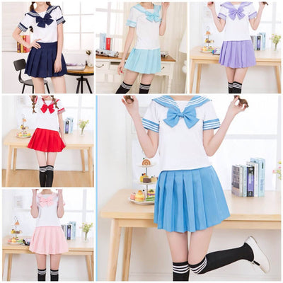 Short-Sleeved Bow School Uniforms SD00397 - SYNDROME - Cute Kawaii Harajuku Street Fashion Store