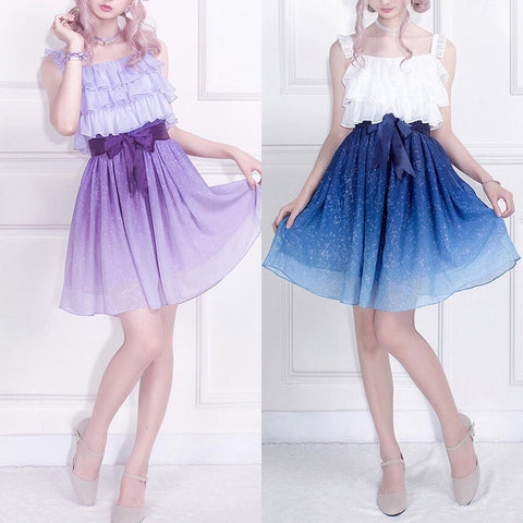 (Pre-Order) Galaxy Ruffle Dress SD00154