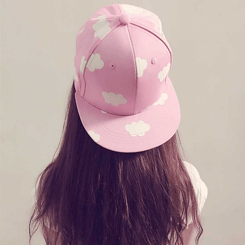Cute Cloud Pattern Brim Snap back Cap SD00510
