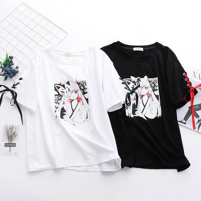 Kitsune Mask Girl T-shirt SD00360 - SYNDROME - Cute Kawaii Harajuku Street Fashion Store