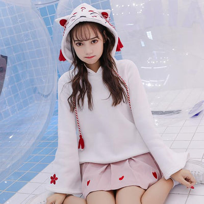 Kitsune Kami Hoodie Sweater SD00359 - SYNDROME - Cute Kawaii Harajuku Street Fashion Store