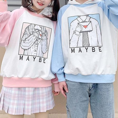 Maybe Love Letter Sweater SD00154 - SYNDROME - Cute Kawaii Harajuku Street Fashion Store