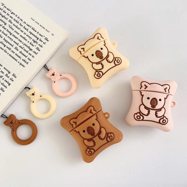 Chocolate-filled Koala Cookie Airpod Case SD00930 - SYNDROME - Cute Kawaii Harajuku Street Fashion Store