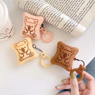 Chocolate-filled Koala Cookie Airpods Case SD00930 - SYNDROME - Cute Kawaii Harajuku Street Fashion Store