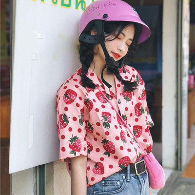 Strawberry Blouse SD00211 - SYNDROME - Cute Kawaii Harajuku Street Fashion Store