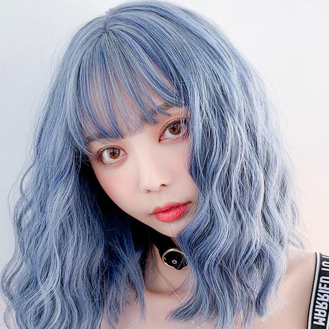 Blue Grey Wave Short Wig SD02452
