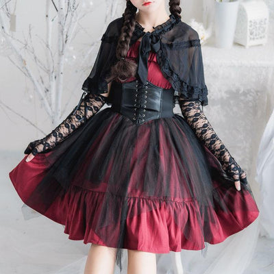 Elegant Lolita Ruffle Mesh Sleeve-less Dress SD00363 - SYNDROME - Cute Kawaii Harajuku Street Fashion Store