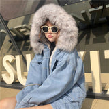 Fluffy Candy Fur Hoodie Denim Jacket SD00409 - SYNDROME - Cute Kawaii Harajuku Street Fashion Store