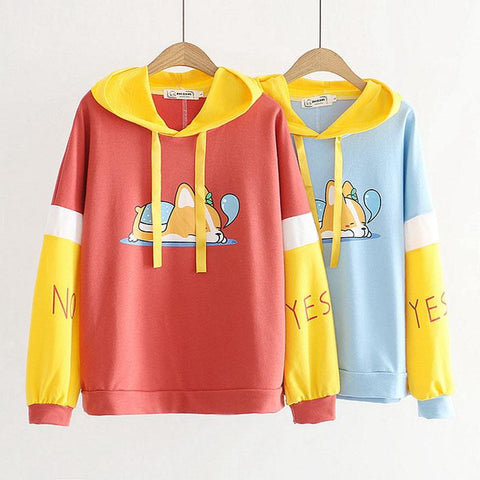 Sleepy Corgi Hoodie Sweater SD00282