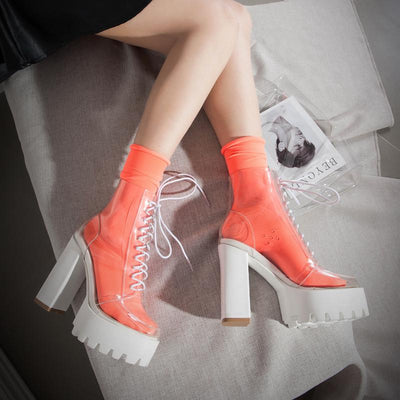 Transparent High-heeled Platform Boots SD00130 - SYNDROME - Cute Kawaii Harajuku Street Fashion Store