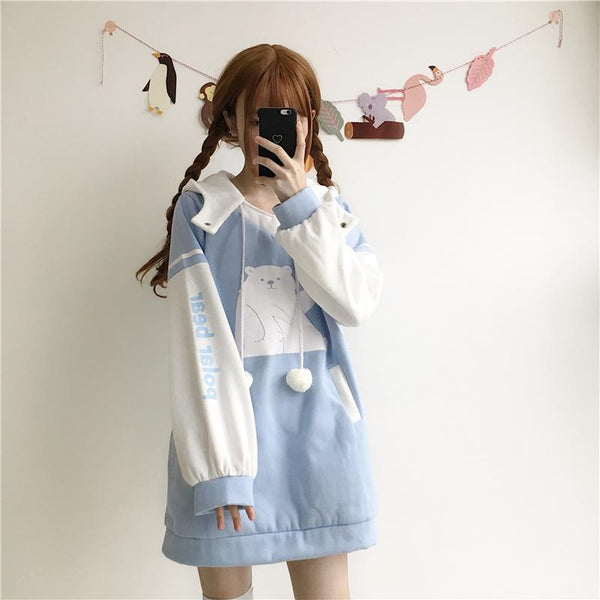 Polar Bear Long Sweater Dress SD00321 - SYNDROME - Cute Kawaii Harajuku Street Fashion Store