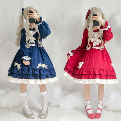 Lolita Bow Ruffle Skirt Dress SD00526 - SYNDROME - Cute Kawaii Harajuku Street Fashion Store