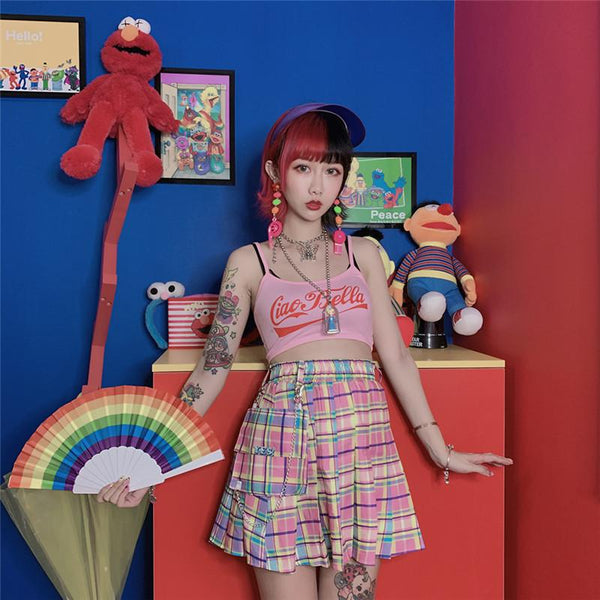 Pastel Yes Pleated Skirt SD00876 - SYNDROME - Cute Kawaii Harajuku Street Fashion Store