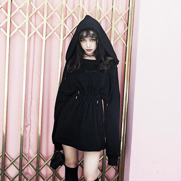 """Swaggy"" Hoodie Dress SD00957 - SYNDROME - Cute Kawaii Harajuku Street Fashion Store"
