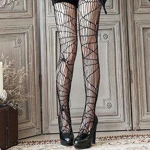Black Spider Web Tights SD00340 - SYNDROME - Cute Kawaii Harajuku Street Fashion Store