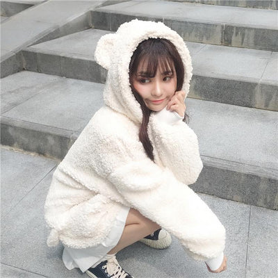 Plush Bear Sweater SD02035 - SYNDROME - Cute Kawaii Harajuku Street Fashion Store