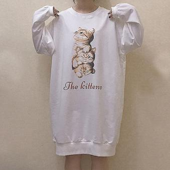 The Kitten Loose Sweater Dress SD00590 - SYNDROME - Cute Kawaii Harajuku Street Fashion Store