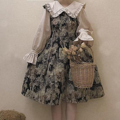 Bear/Cat Strap Dress SD00591 - SYNDROME - Cute Kawaii Harajuku Street Fashion Store
