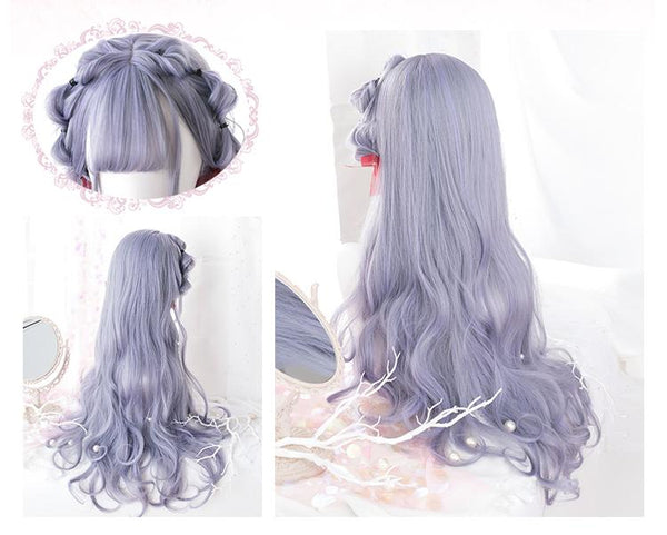 Gradient Grey Curly Lolita Long Wig SD00444 - SYNDROME - Cute Kawaii Harajuku Street Fashion Store