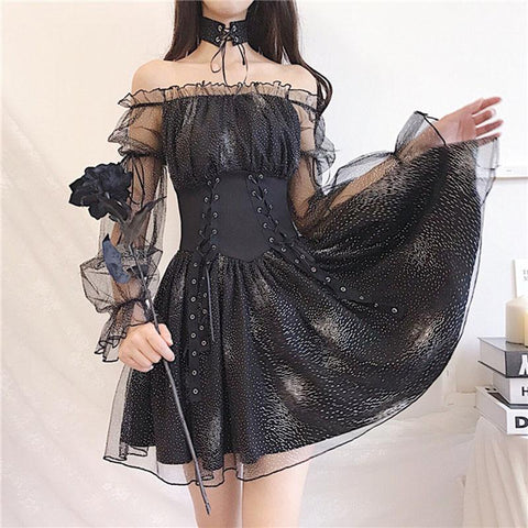 Dark Moonlight Dress SD01199 - SYNDROME - Cute Kawaii Harajuku Street Fashion Store