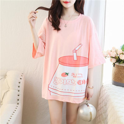 Strawberry Drink T-shirt SD00073 - SYNDROME - Cute Kawaii Harajuku Street Fashion Store