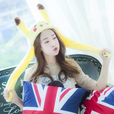 Plush BLACKPINK Soyaa Moving Pikachu Ears Hat SD00689 - SYNDROME - Cute Kawaii Harajuku Street Fashion Store