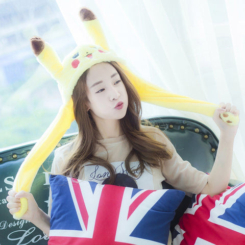 Plush BLACKPINK Soyaa Moving Pikachu Ears Hat SD00689