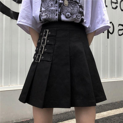 Pleated 4 Strap High Waist Skirt SD01723 - SYNDROME - Cute Kawaii Harajuku Street Fashion Store