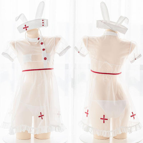 Bunny Transparent Nurse Uniform SD01490