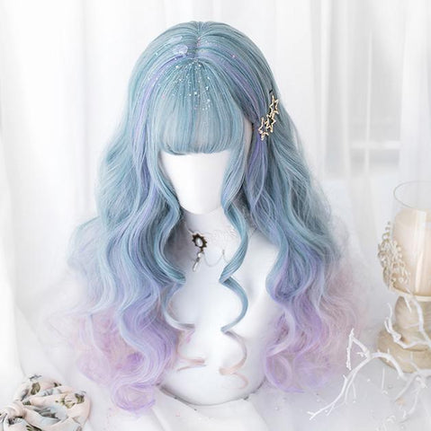 Mermaid Gradient Pastel Long Wig SD00184