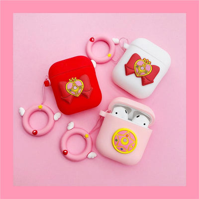 Sailor Moon Bow Pendant Airpods Case SD01530 - SYNDROME - Cute Kawaii Harajuku Street Fashion Store