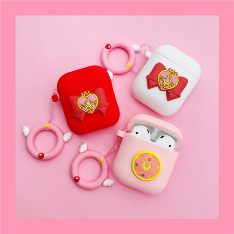 Sailor Moon Bow Pendant Airpod Case SD01530 - SYNDROME - Cute Kawaii Harajuku Street Fashion Store