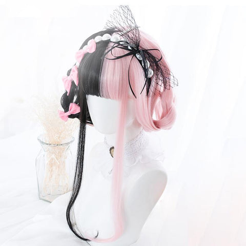 Harajuku Black&Pink Lolita Wig SD01456 - SYNDROME - Cute Kawaii Harajuku Street Fashion Store