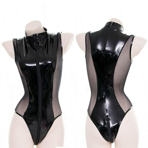 Leather Mesh Bodysuit SD01133