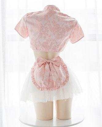 Floral Maid Heart Key Hole Cheongsam SD01434 - SYNDROME - Cute Kawaii Harajuku Street Fashion Store