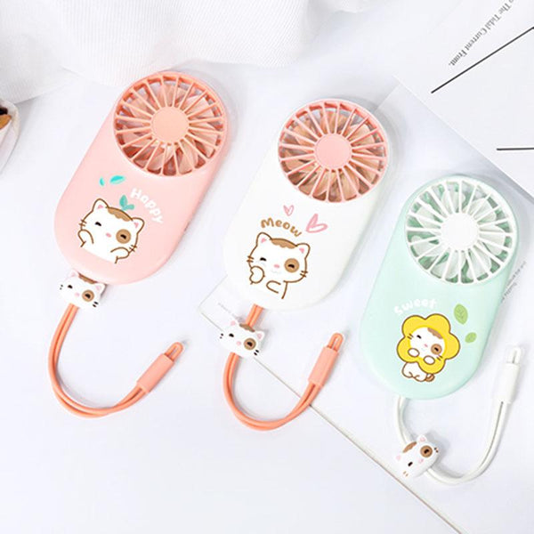 Portable Kawaii Neko Fan SD00369 - SYNDROME - Cute Kawaii Harajuku Street Fashion Store
