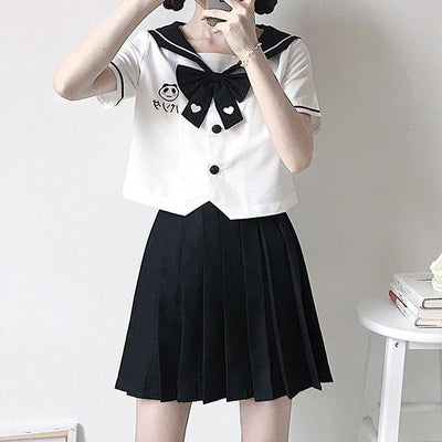 Panda Embroidered School Uniform SD00231 - SYNDROME - Cute Kawaii Harajuku Street Fashion Store