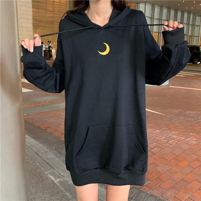 Open Sleeve Moon Loose Sweater Hoodie SD01708 - SYNDROME - Cute Kawaii Harajuku Street Fashion Store